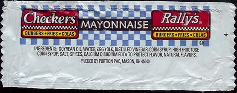 Condiment Packet Gallery by Rally S Mayonnaise