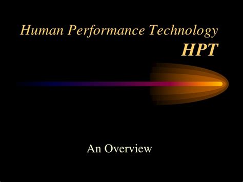 human bench mark human performance technology what is hpt