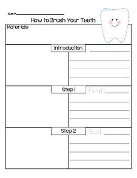tooth writing template how to brush your teeth writing template teeth