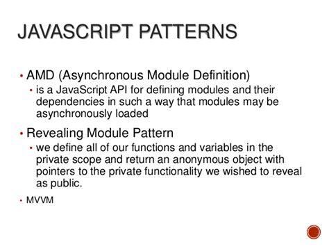 js pattern amd single page applications on javascript and asp net mvc4