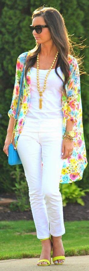 Kimono Cardie Pastel multicolor chiffon floral print sheer line kimono by