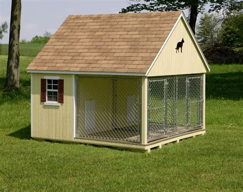 dog house with kennel dog houses and kennels jim s amish structures