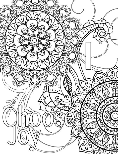 coloring pages joy words coloring page i choose joy pinteres
