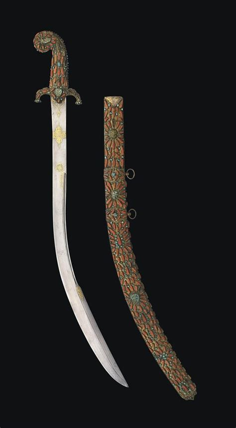 L Armée Ottomane by A Coral And Turquoise Inlaid Sword Kilij Probably