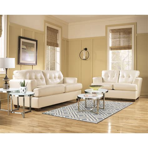 Ivory Leather Sofa Set Ivory Leather Sofa And Loveseat Living Room Set
