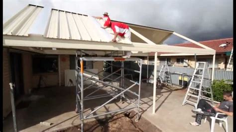 Roofing A House by Stratco Outback Gable Clearspan Veranda Patio