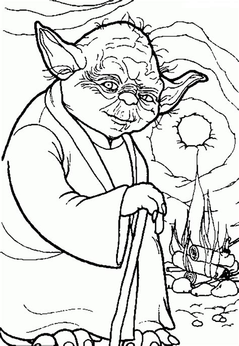 printable coloring pages of yoda ausmalbilder star wars beste ausmalbilder