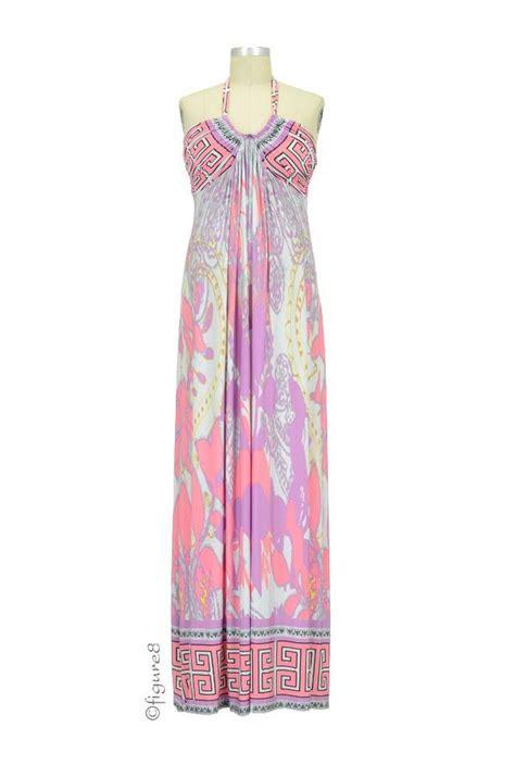 Set Maxi Tamara tamara maxi maternity dress in pink abstract print by olian