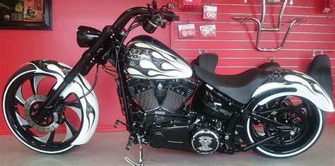 Harley Davidson White Brown custom paint harley