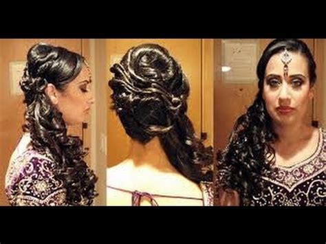 hairstyles for indian wedding youtube hairstyles for indian women for wedding with make up youtube