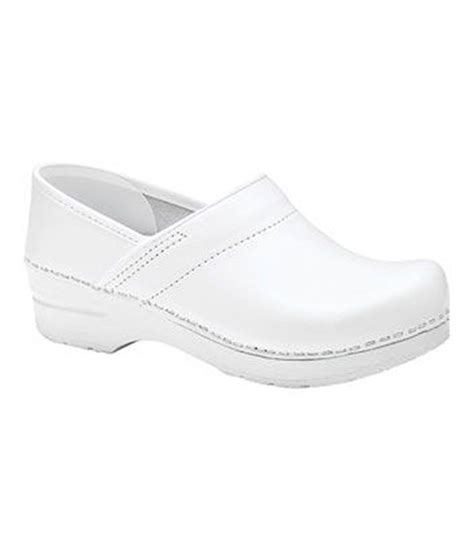 white clogs for dansko professional clogs in white lyst