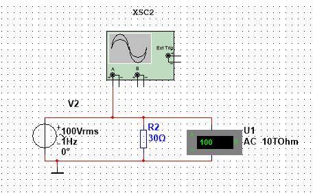 oscilloscope multisim   parameters  voltage