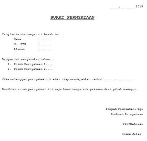 89 contoh surat pernyataan resmi gratis