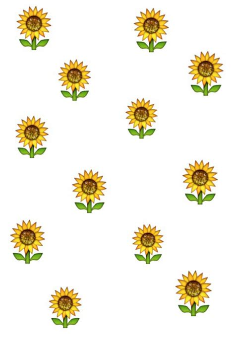 wallpaper emoji flower emoji sunflower flower floral wallpaper background