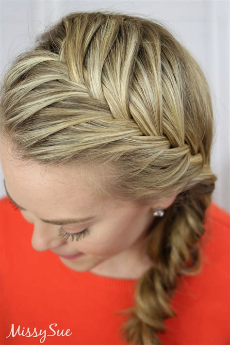 how to make a fish tail braid with puffy thick hair fishtail french braid video tutorial written