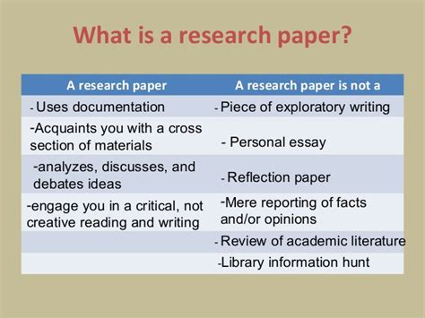 describe briefly the layout of a research report focusing on important points what is a research paper