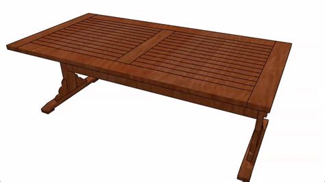 trestle bench plans trestle table plans youtube