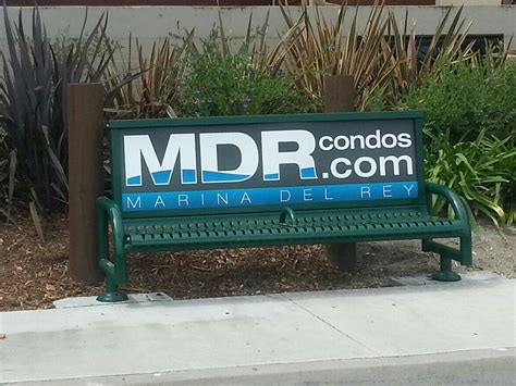 bench ads mdr condo s first bench ad looks great marina del rey condos