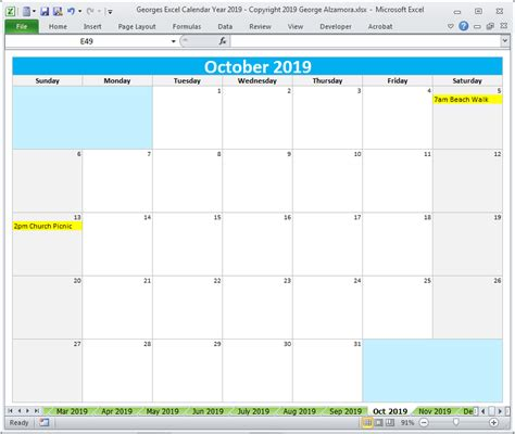 calendar printable yearly monthly editable excel digital  buyexceltemplatescom