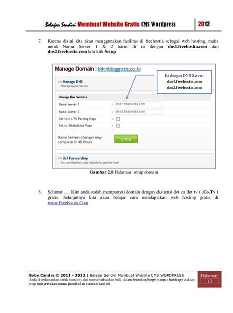 membuat server web hosting sendiri cara membuat website gratis