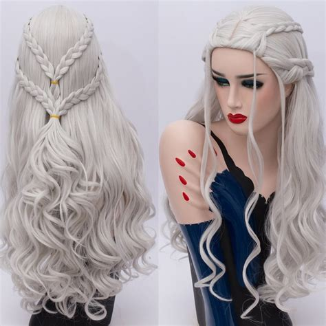 2018 Perruque Cosplay Long Tresse Ond 233 Synth 233 Tique Game Of