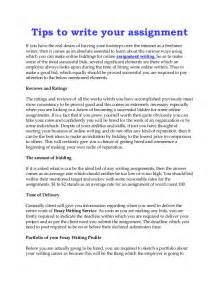 Tips To Writing A Essay by Tips To Write Your Assignment