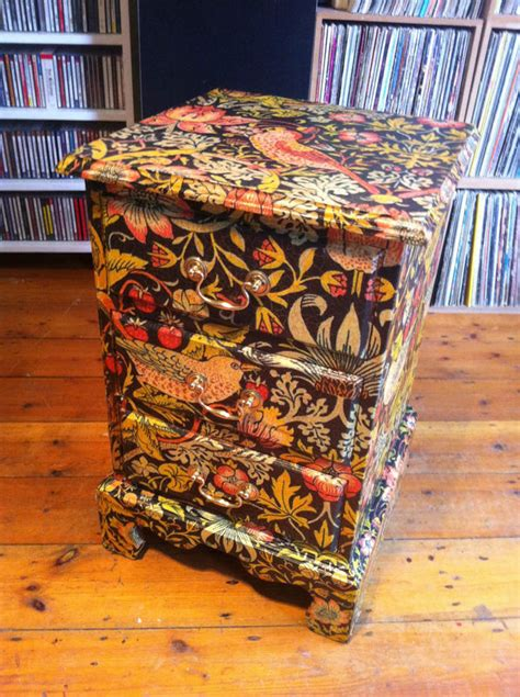 Decoupage Using Wallpaper - lorsten 187 decoupage drawers furniture morris 2