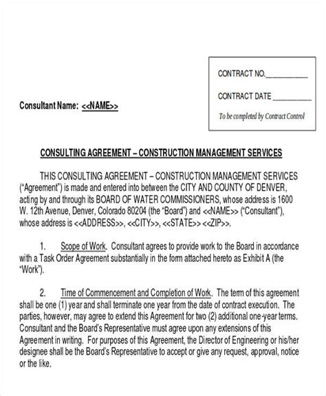 management consulting agreement template 28 consulting agreement in pdf