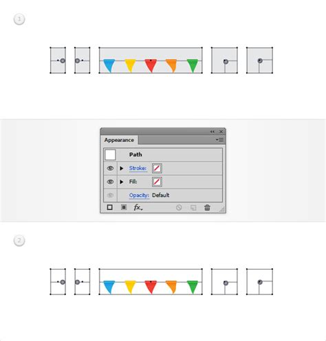 step pattern of brush step how to create a flag bunting pattern brush in adobe