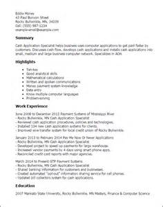 resume template for application professional application specialist templates to