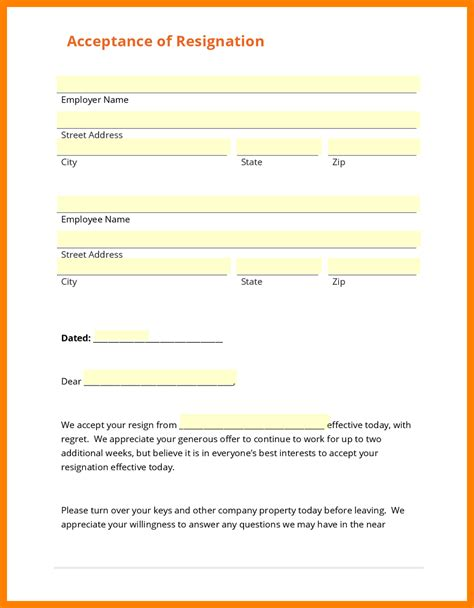 6 company resignation form hostess resume