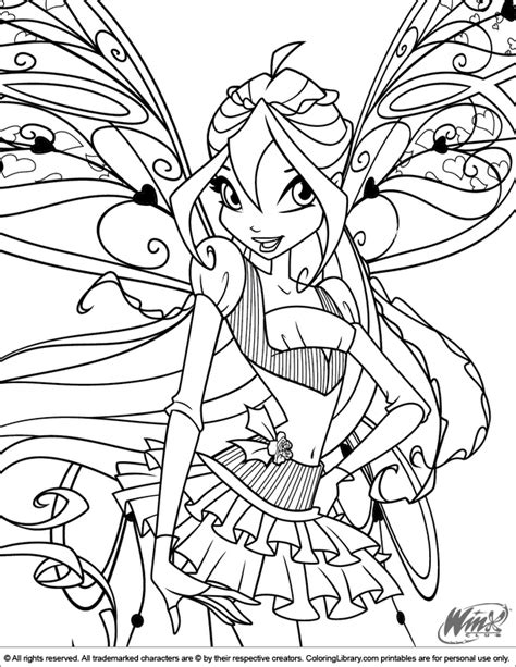 coloring pages for winx club winx club coloring picture
