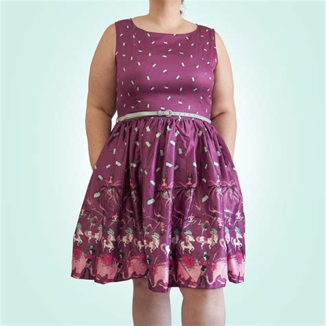 swing dress canada lindy bop audrey vintage circus purple swing dress
