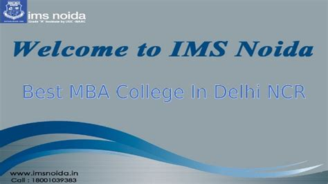One Year Mba Delhi Ncr by Best Mba College In Delhi Ncr