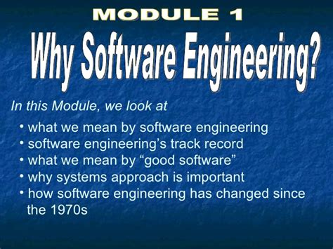 Why Software Engineer Do Mba by 02 Why Software Engineering