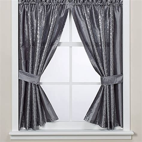 infinity curtains buy infinity bathroom window curtain panels from bed bath