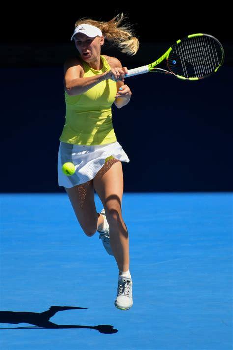 australian open 2018 caroline wozniacki at australian open tennis tournament in