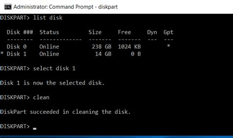 diskpart format disk command line how to clean a flash drive sd card or internal drive