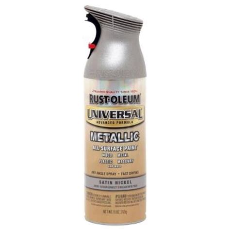 home depot spray paint and primer rust oleum universal 11 oz all surface metallic satin