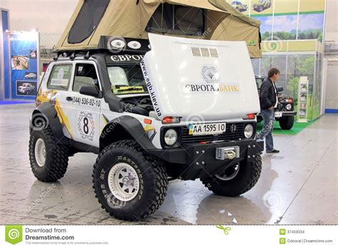 Lada Jeep Vaz Lada Niva 4x4 Jeep Editorial Stock Image Image Of