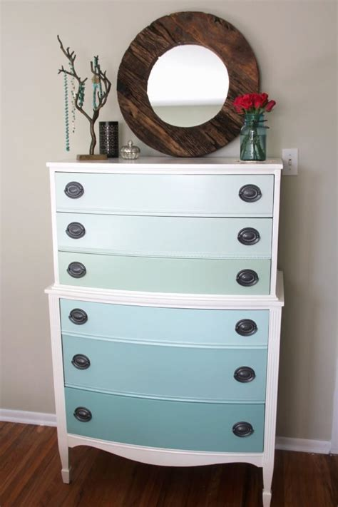 colorful dressers use the ombre technique to create stunning and colorful