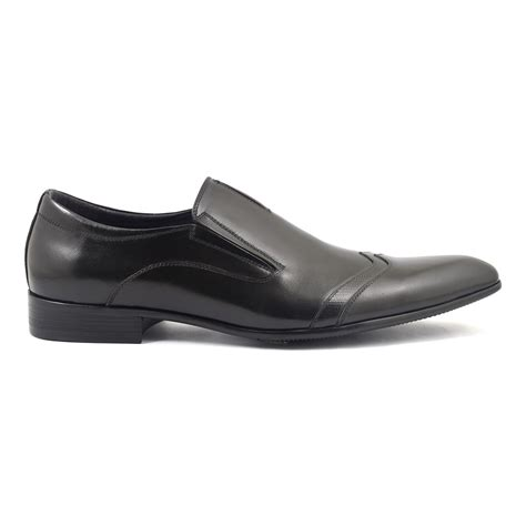 shop mens black slip on formal shoes gucinari