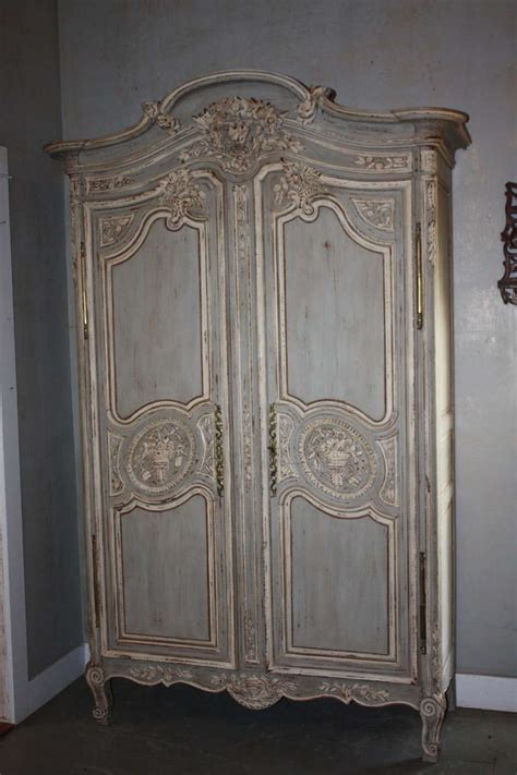 Painted Armoire by 19th Century Painted Armoire At 1stdibs