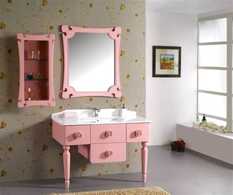 Simple Bathroom Vanity Design Ideas For More Storage In Pink Bathroom Storage