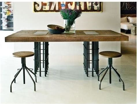 rebar dining table industrial dining tables by