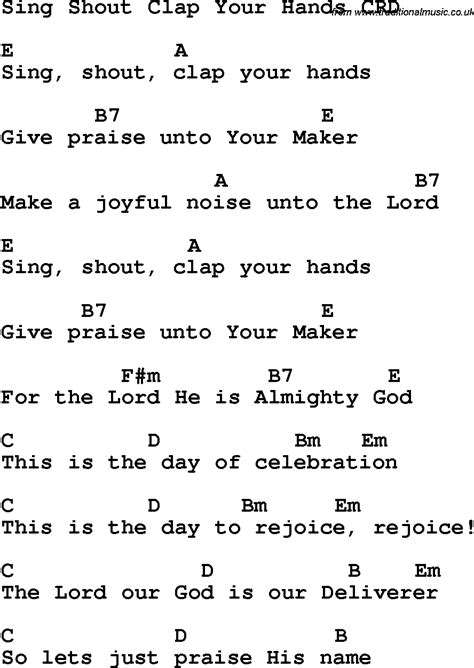 Attractive Church Songs For Kids List #2: Sing_shout_clap_your_hands_crd.png