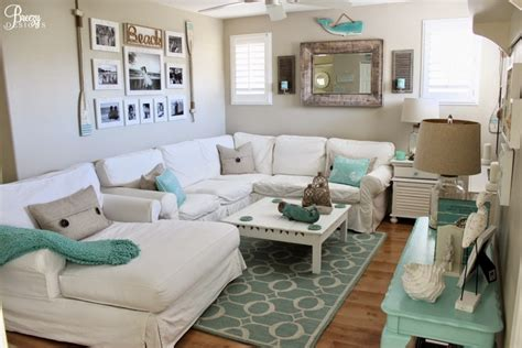 small space living nautical navy and grey apartment living room on a budget home decor on a beach chic coastal cottage home tour with breezy design