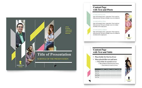 open office presentation templates card layout personal finance powerpoint presentation template design