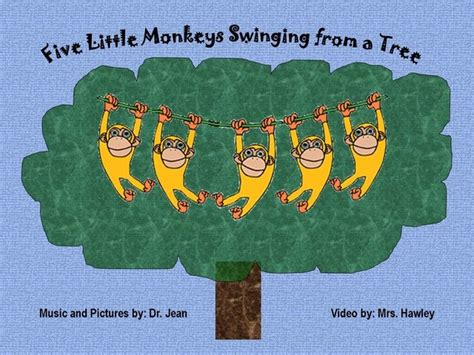 5 little monkeys swinging tree song 5 little monkeys swinging from a tree pinned by