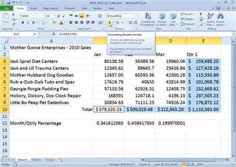 microsoft excel 2007 format cells as us currency how to display numbers in excel 2010 as currency dummies